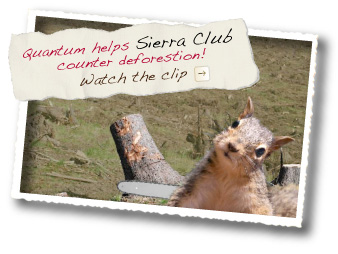Quantum Communications helps the Sierra Club! Watch the squirrel clip.